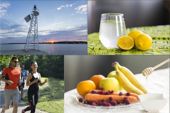 Колаж от здравословни навици