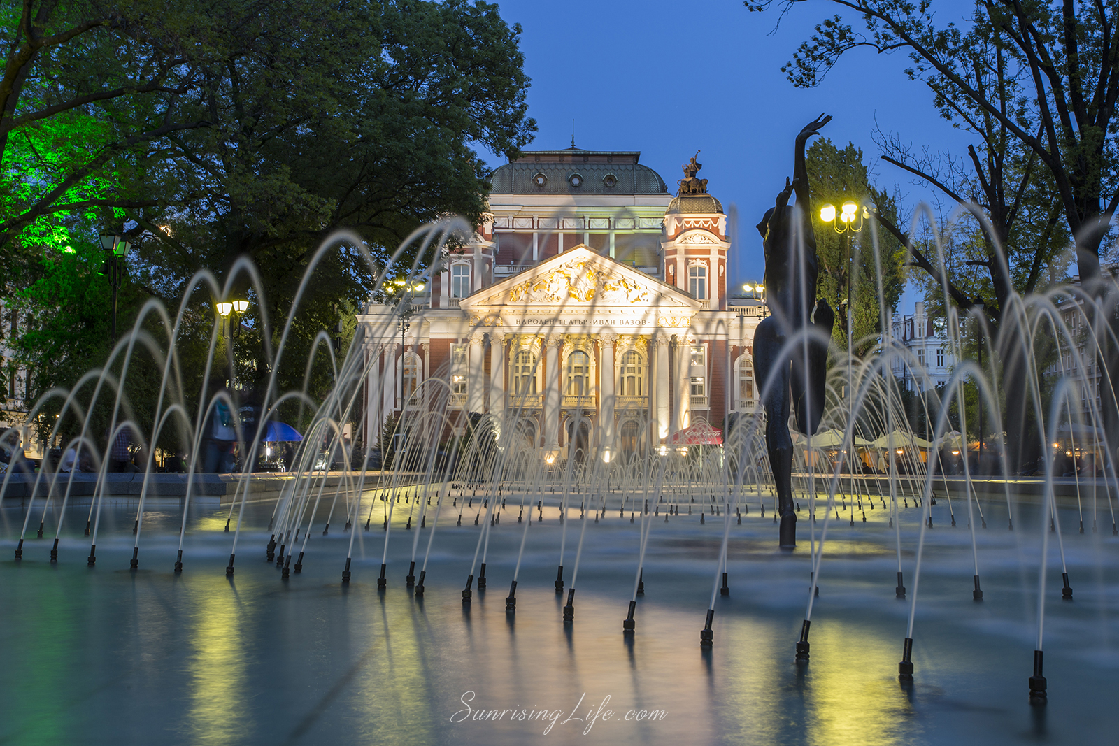 The fountains at the city garden, Sofia