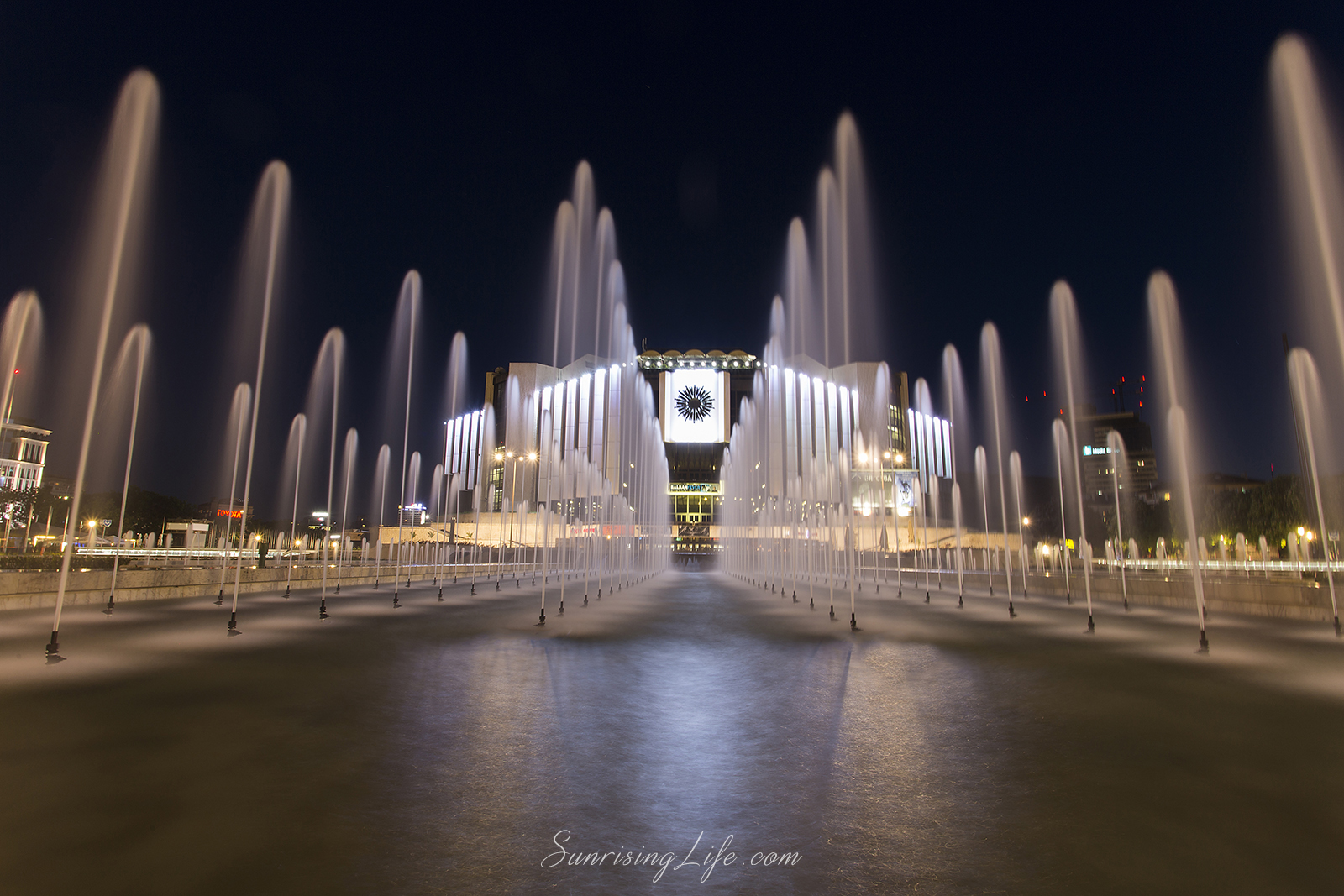 NDK fountains, Sofia