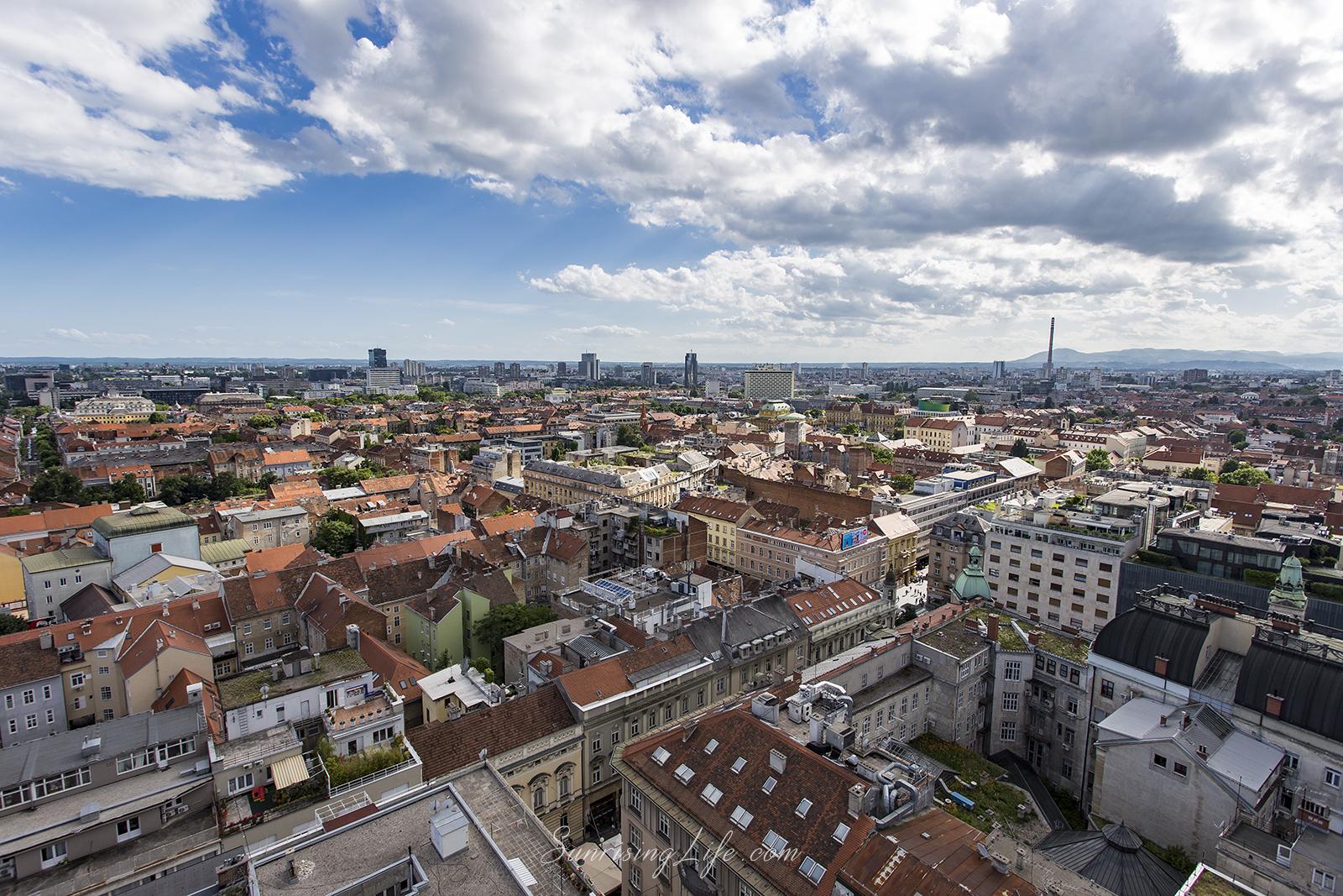 Загреб отвисоко