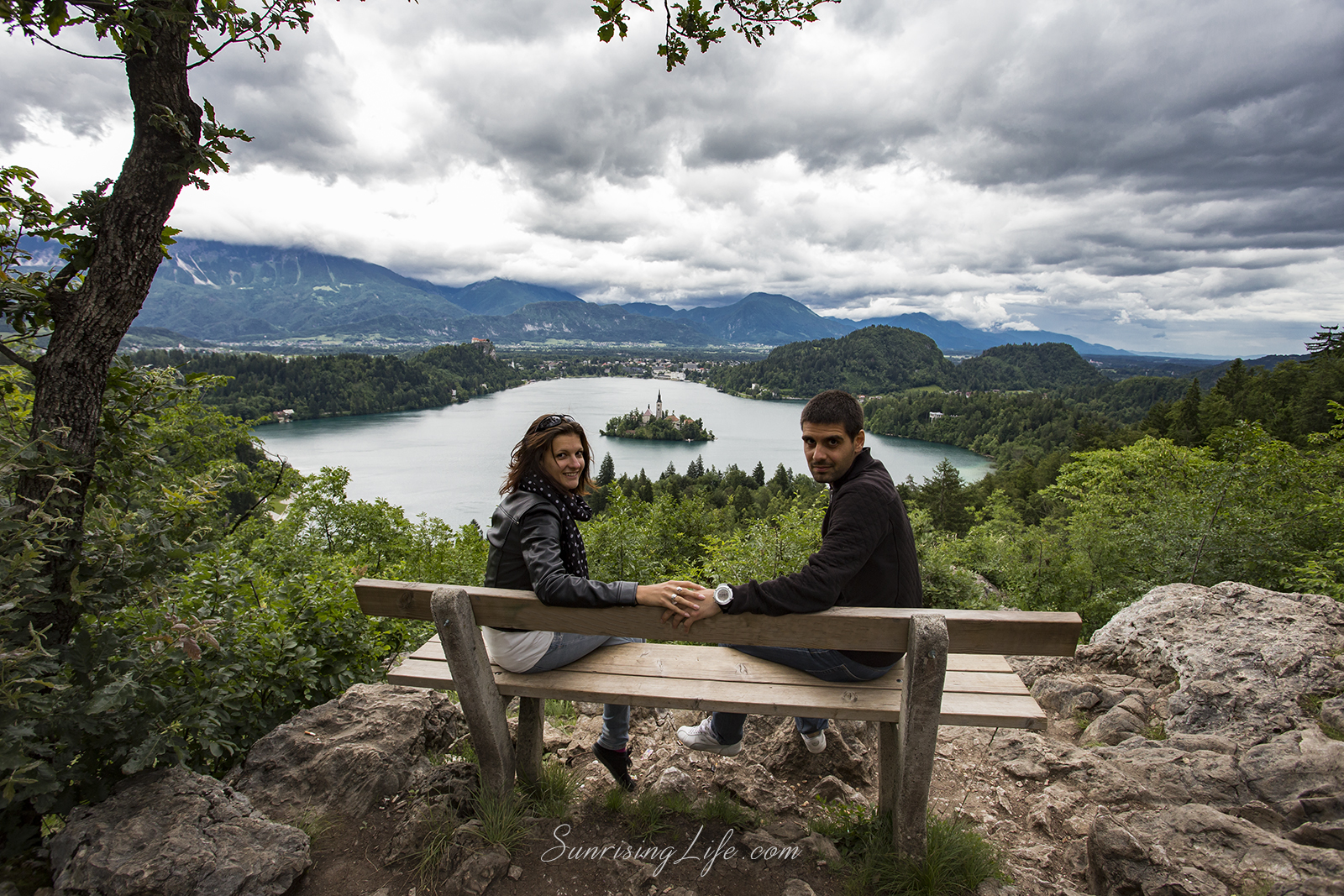 The Bench over Lake Bled