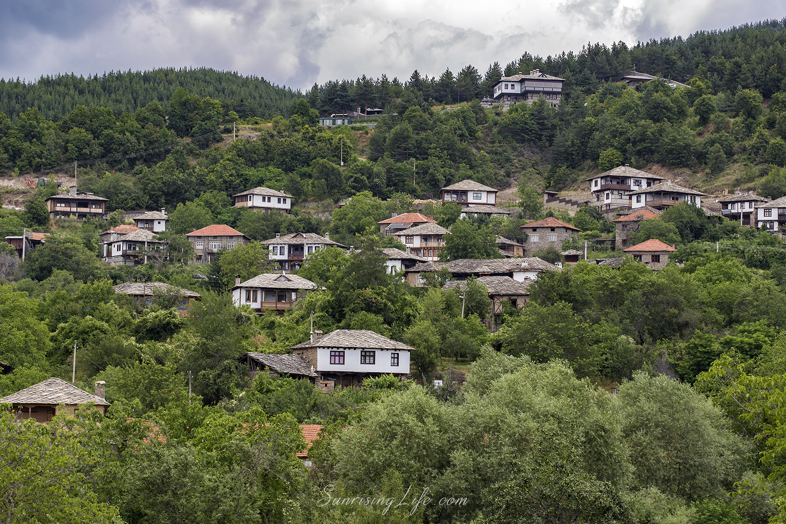 Small houses of Leshten village