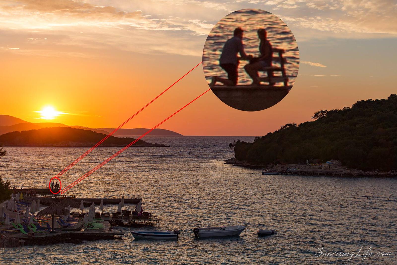 Предложение по залез, Албания