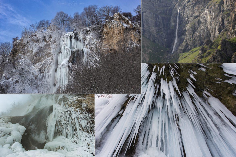 Колаж с водопади