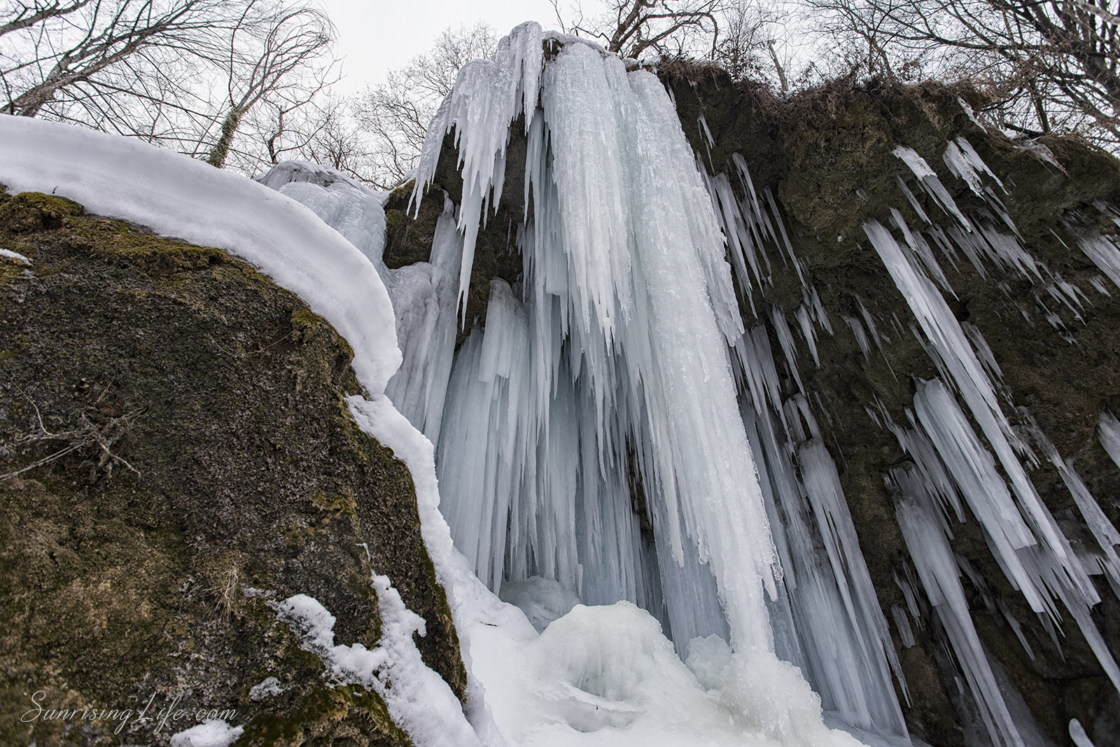 Ледени висулки, Водопад Варовитец