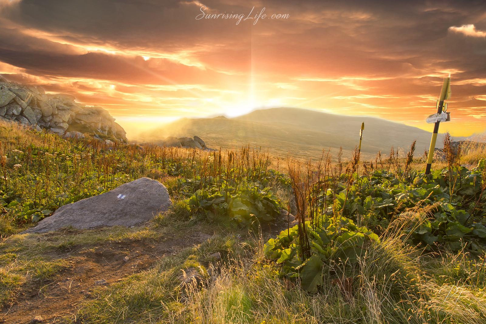 Sunset at Vitahsa mountain