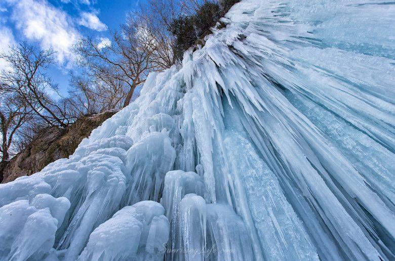замръзнал водопад Света Ана, Смоличано