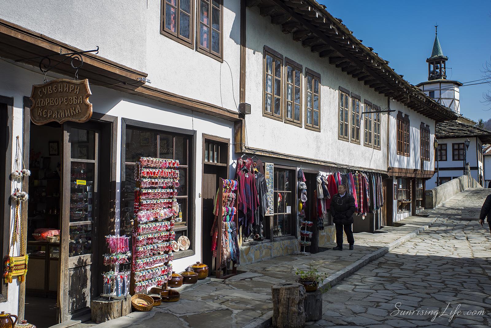 Уличка в центъра на Трявна