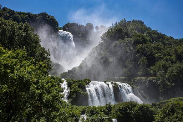 Водопад марморе в Италия до град Терни