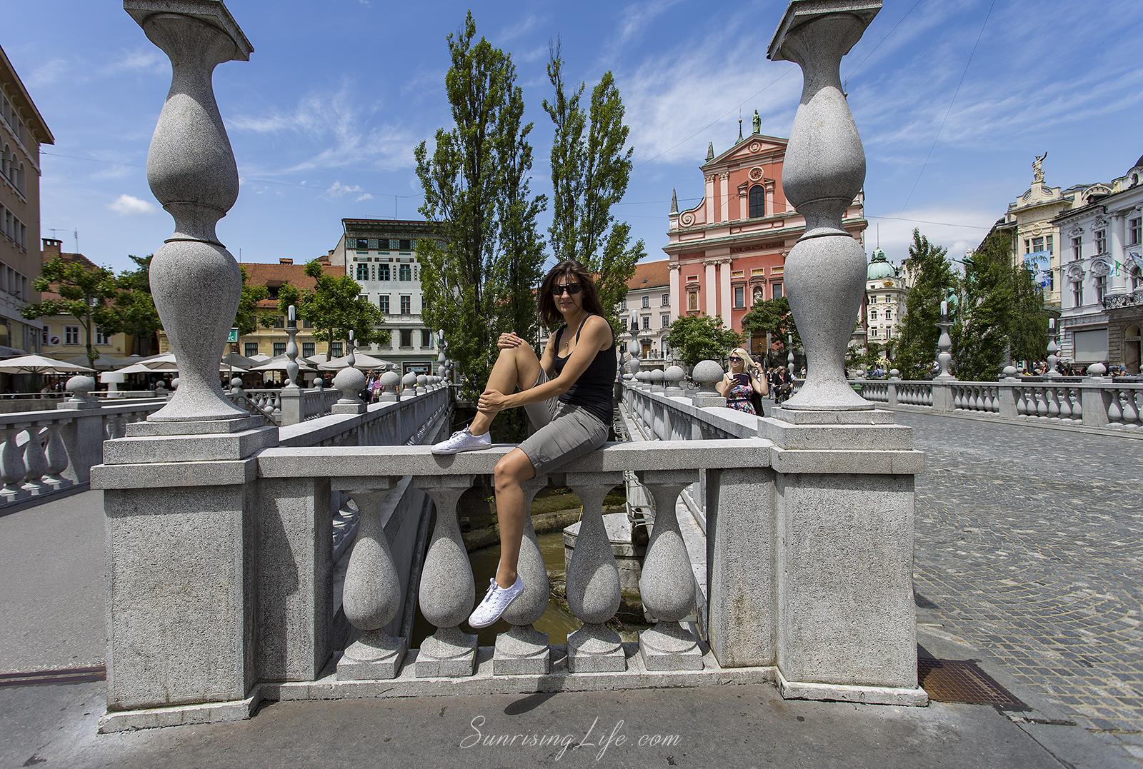 Тройният мост в Любляна, Забележителности в Любляна