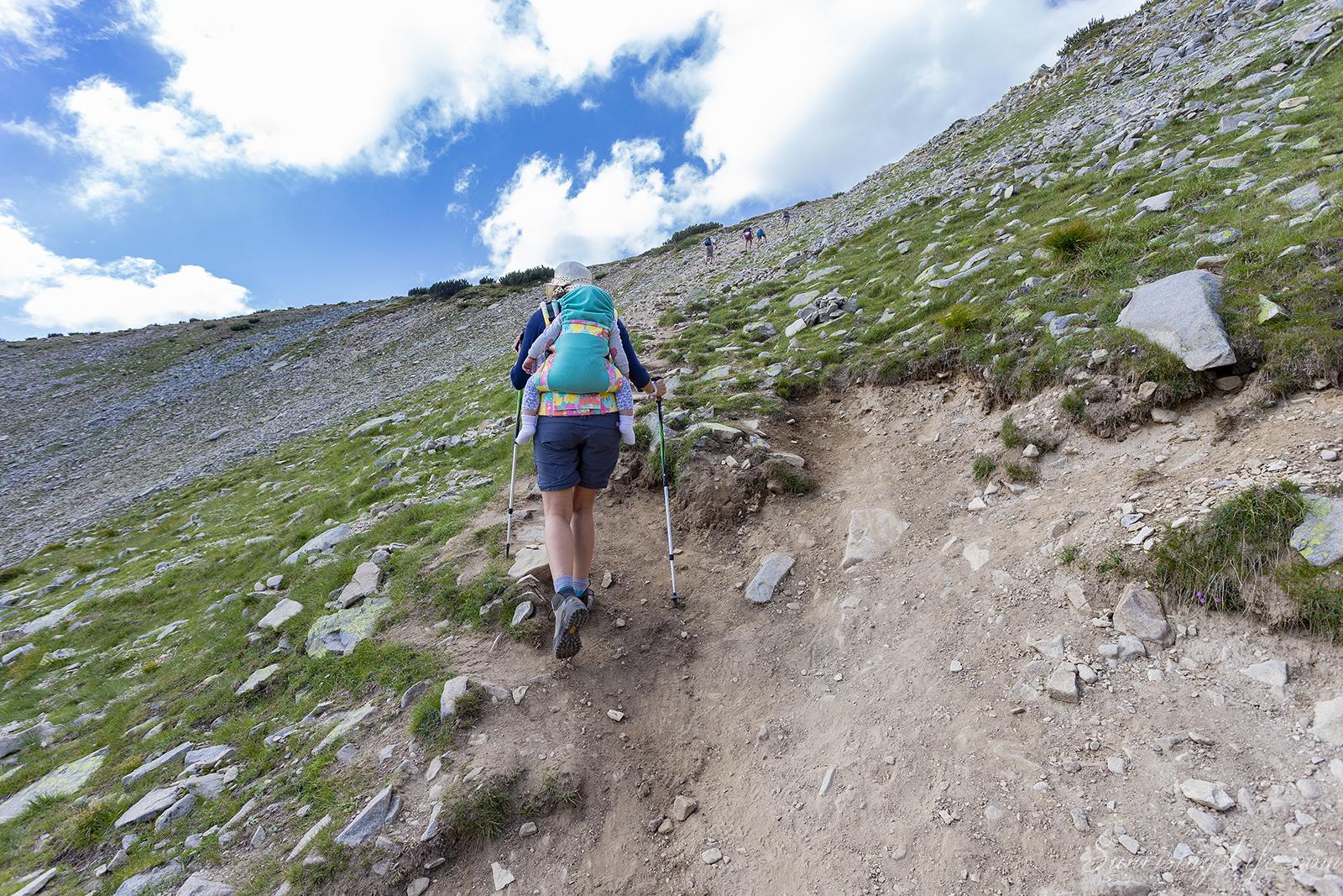 изкачването преди платото на връх безбог и връх полежан