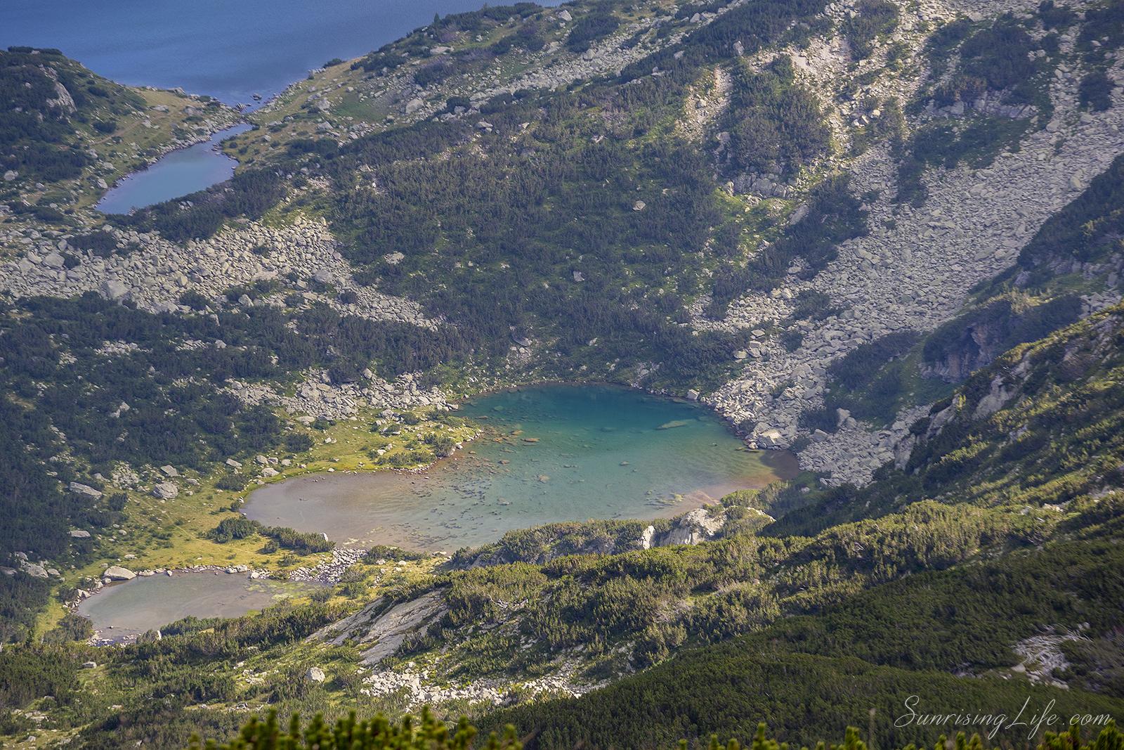 гледка към попово езеро от връх полежан