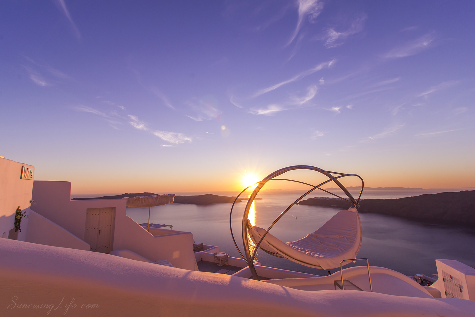 Забележителности в Санторини - залез от Имеровигли, морски залези