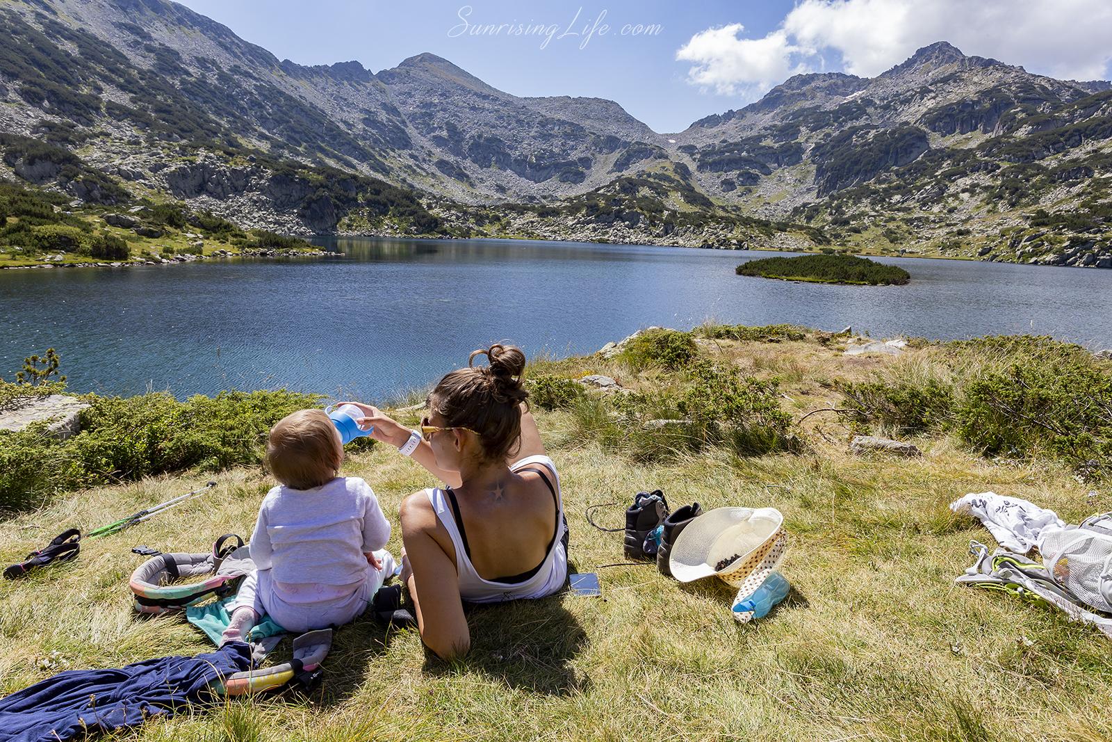 попово езеро в пирин разходка с бебе в планината