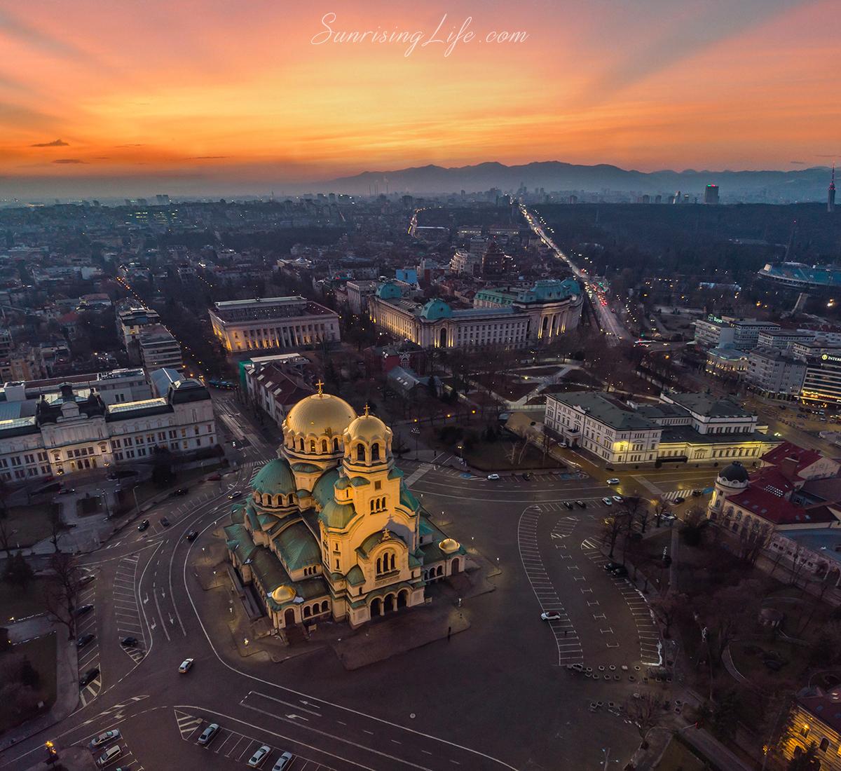 забележителности в софия - александър невски и софийски университет отвисоко