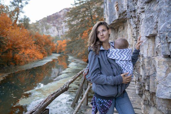 геопарк искът панега, Суитшърт за бебеносене, суичър за бебеносене - Екатрин, Носене на бебето