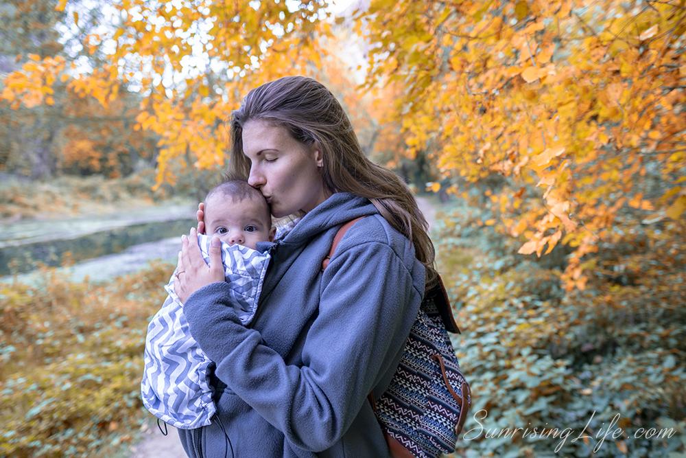 Суитшърт за бебеносене, суичър за бебеносене - Екатрин, Носене на бебето