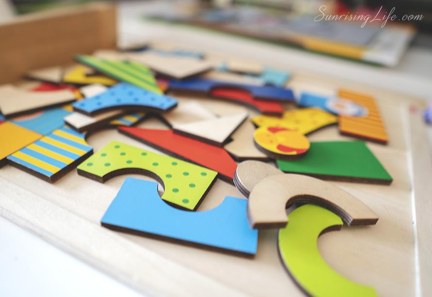дървен пъзел, дървени играчки, монтесори играчки